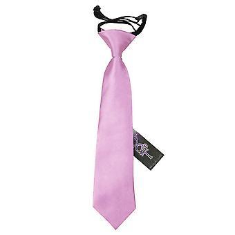 Lilac Plain Satin Elasticated Tie for Boys