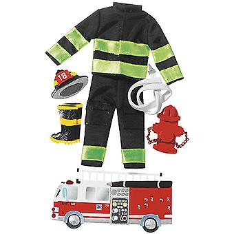 Jolee's Boutique Dimensional Stickers-Firefighter