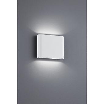Trio Lighting Thames Ii Modern White Matt Diecast Aluminium Wall Lamp