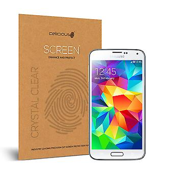 Celicious Vivid Invisible Glossy HD Screen Protector Film Compatible with Samsung Galaxy S5 [Pack of 2]