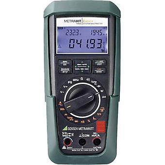 Gossen Metrawatt METRAHIT Energy håndholdt multimeter kalibrert til DAkkS standarder Digital CAT III 600 V, CAT IV 300 V display (teller): 60000