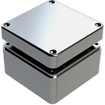Deltron Gehäuse 487-121208A Universal-Gehäuse 125 x 125 x 80 Aluminium grau 1 PC