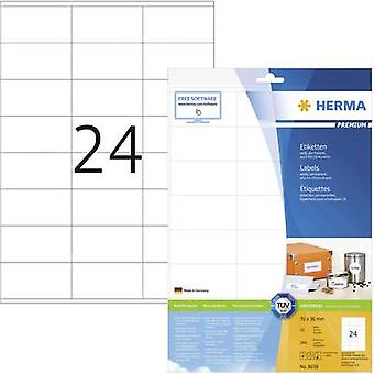 Herma 8638 Labels 70 x 36 mm Paper White