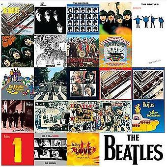 Beatles po płycie LP obejmuje metalowy znak