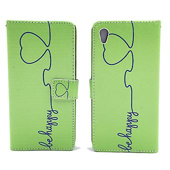 Mobile case bag for mobile phone Sony Xperia Z5 be happy Green