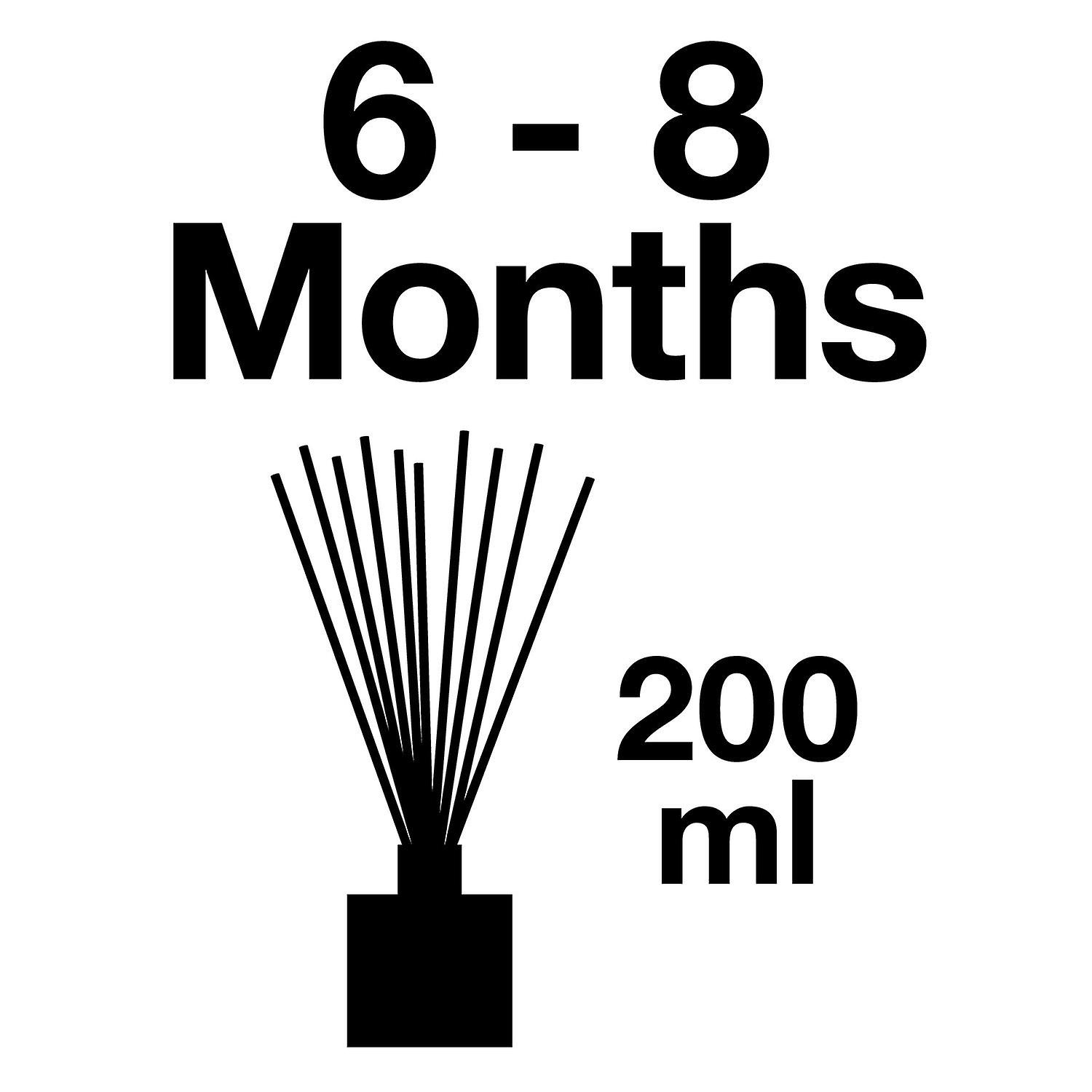 Large & Natural Reed Diffuser - Long-lasting & Healthy - Beautiful Perfumes that Compliment You - Fragrances for 6 - 8 months (200 ml) - by PAIRFUM - Perfume: Trail of White Petals - with Black Reeds