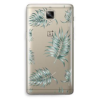 OnePlus 3 Transparent Case (Soft) - Simple leaves