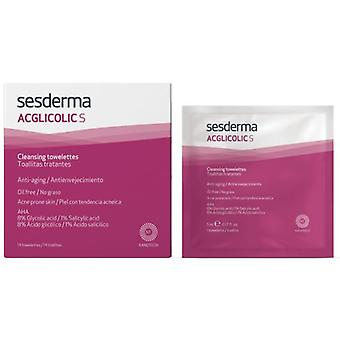 Sesderma Acglicolic S Handlers Wipes 14 Units (Cosmetics , Facial , Facial cleansers)