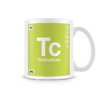 Wetenschappelijke bedrukte Mok met Element symbool 043 Tc - Technetium