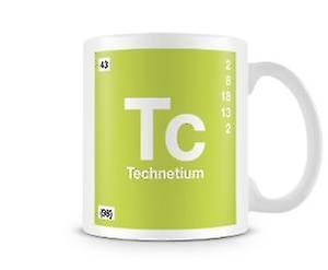 En TcTechnétium Vedette ScientifiqueMettant Imprimé Élément 043 Mug Symbole 9D2EHI
