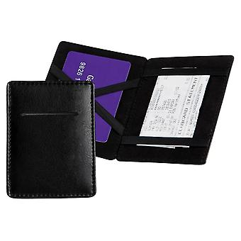 David Van Hagen Small Leather Magic Wallet - Black
