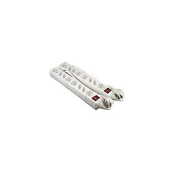 VB 61055 Tafelcontactdoos 4xRA + 4x Euro + Schakelaar 1,5M 2 Stuks