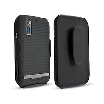 5 Pack -Technocel Shield and Holster Combo for Motorola Sunfire - Black