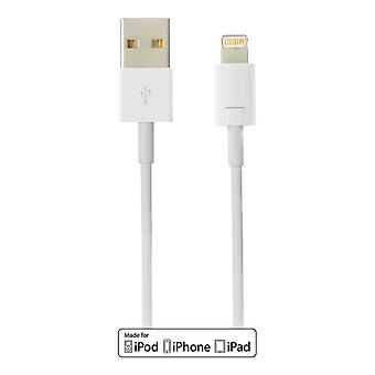 DELTACO USB sync-/laddarkabel to iPad, iPhone and iPod MFi Lightning