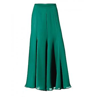 Ashley brooke of elegantly swinging ladies chiffon skirt Green