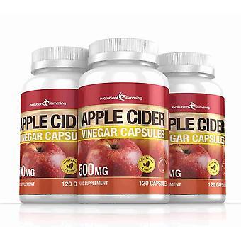 Cápsulas de vinagre de manzana 500mg - 360 cápsulas - quemador de grasa - adelgazar de evolución