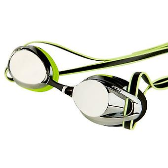 Maru Pulsar Swimming Goggles - Mirrored Lens - Silver/Lime/Black