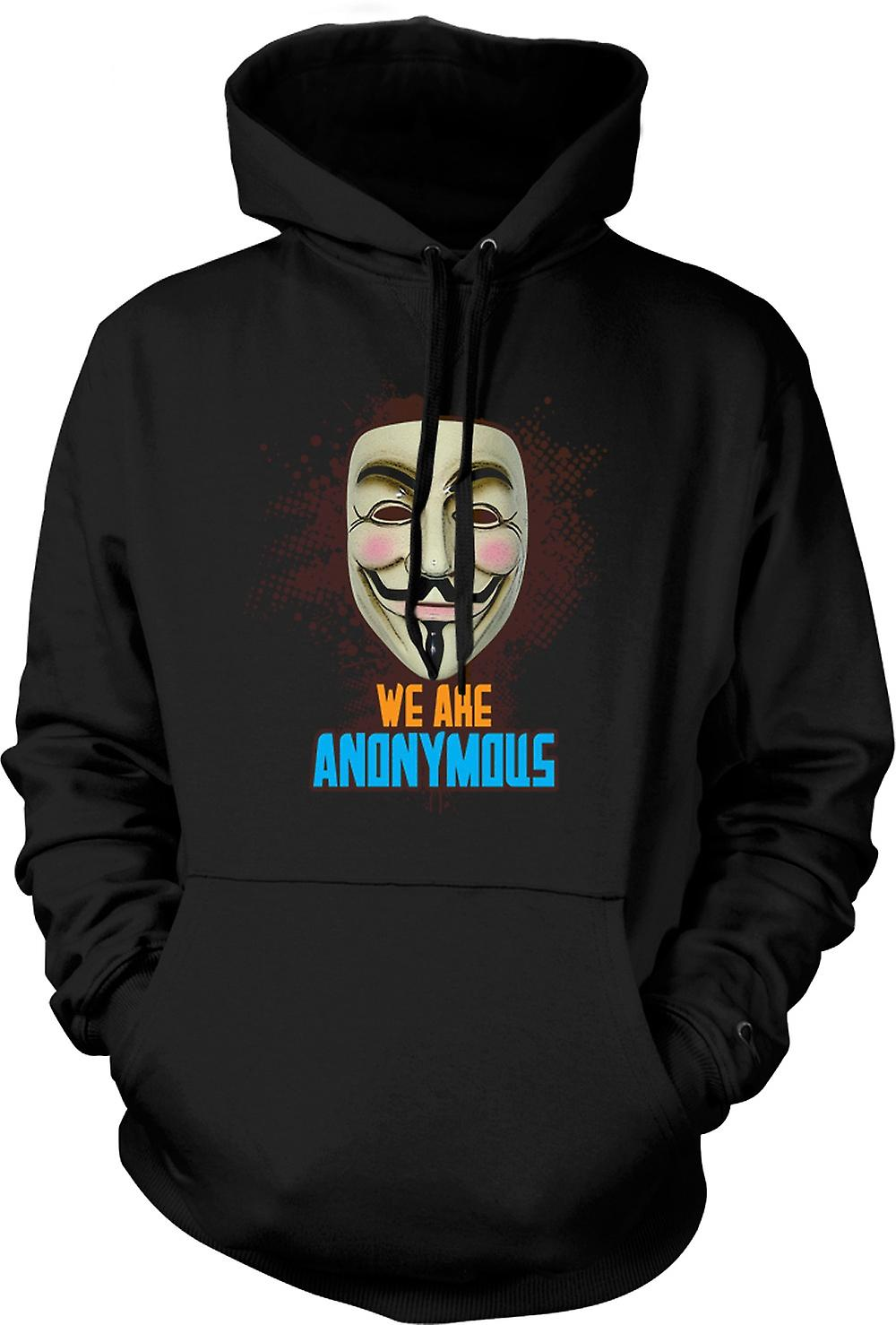 Mens Hoodie - V For Vendetta Anonymous