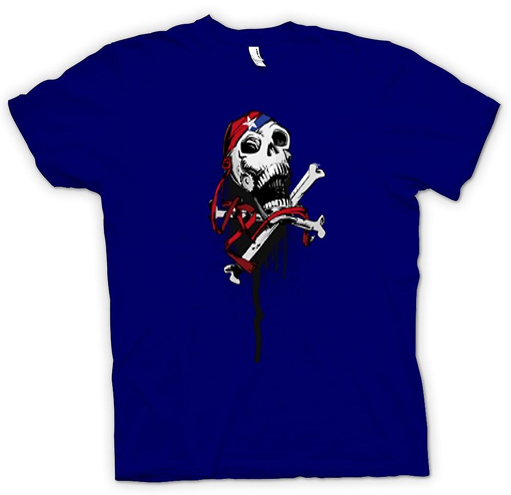 Hommes T-shirt - Skull Bandana & Cross Bones