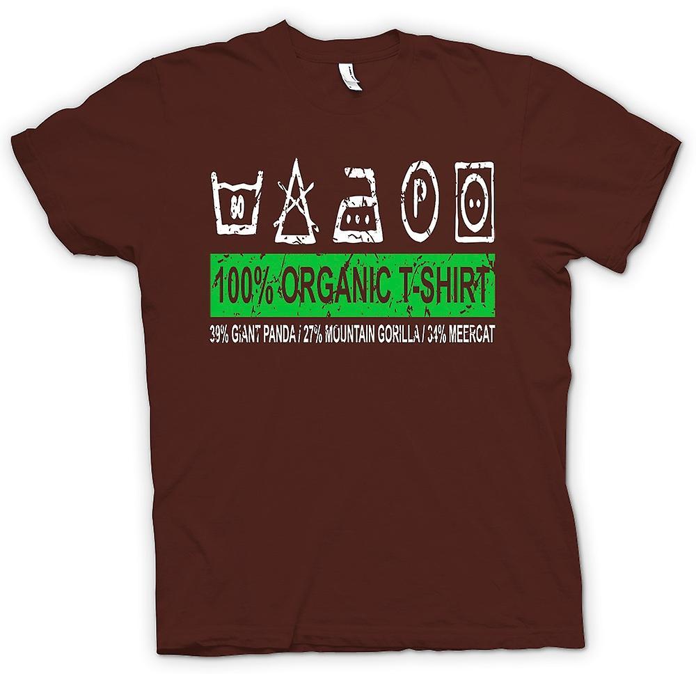 Mens t-skjorte - 100% organisk T skjorte - 39% giganten Panda