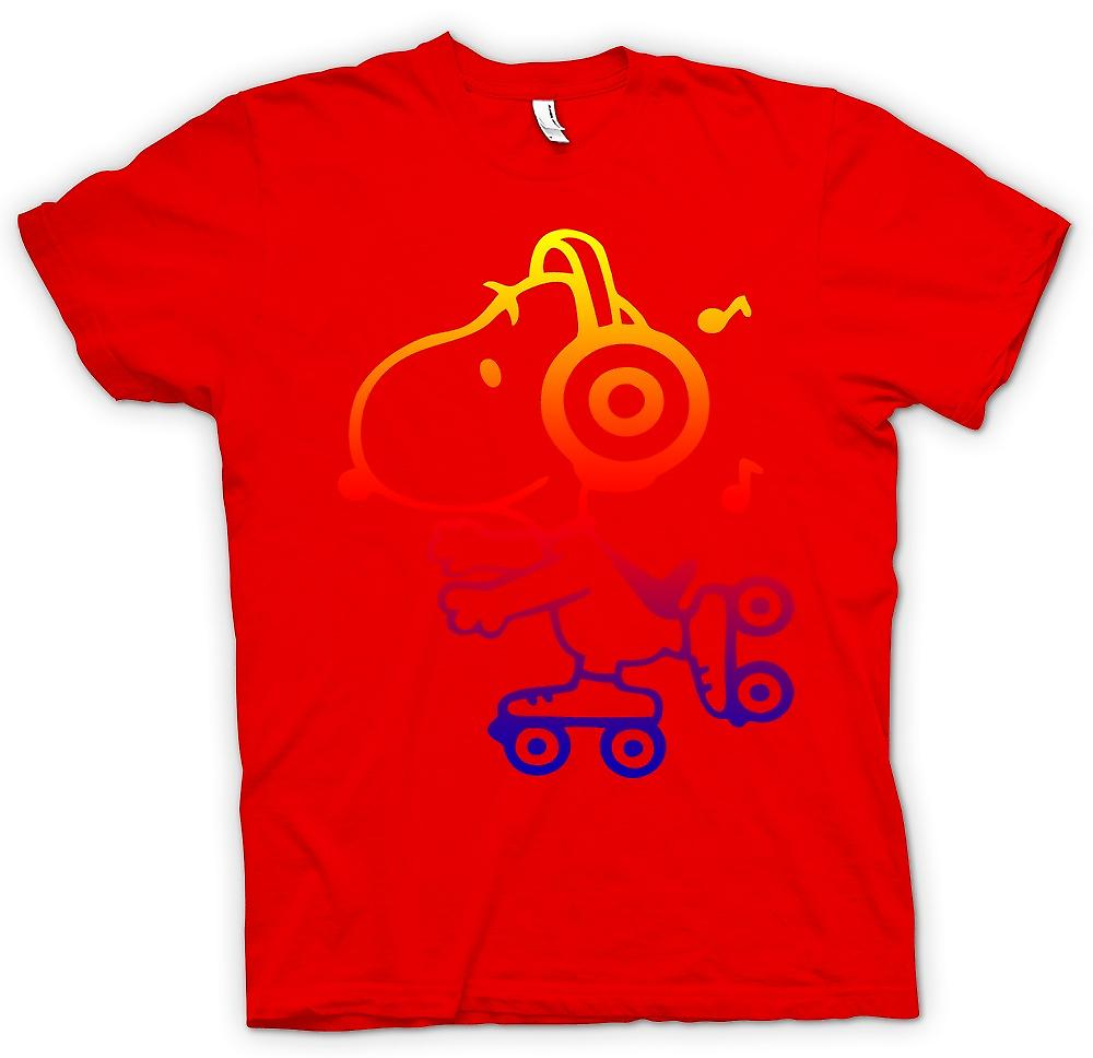 Mens T-shirt - Snoopy On Roller Skates