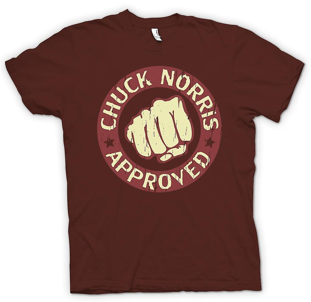 Mens T-shirt - Chuck Norris approuvé Super Fist