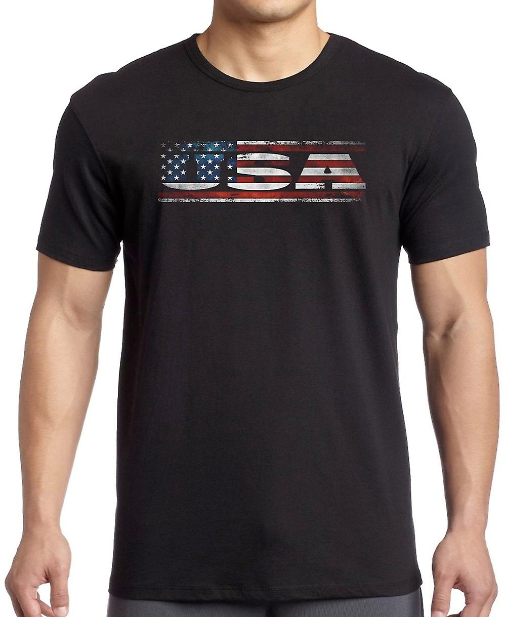 USA American Flag - Words Kids T Shirt