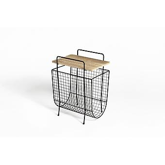 LIFA LIVING side table with magazine rack metal | Magazine holder | Magazine stand in the vintage style | incl. storage opportunity