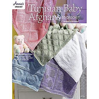 Tunisian Baby Afghans to Crochet: 5 Delightful Ways to Greet a New Precious Little Face Using Afghan Stitch and Worsted Yarn