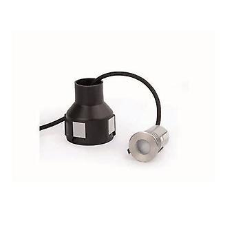 Faro - Crosby Matt nikkel LED innfelt utendørs lampe med driveren 3000K FARO70459N