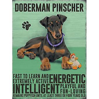 Medium Wall Plaque 200mm x 150mm - Doberman Pincher