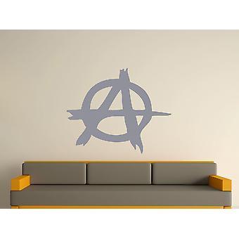 Anarki Symbol væg kunst klistermærke - sølv