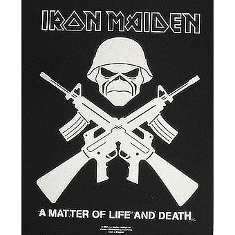 Iron Maiden Crossed Guns large sew-on back patch  (mm)