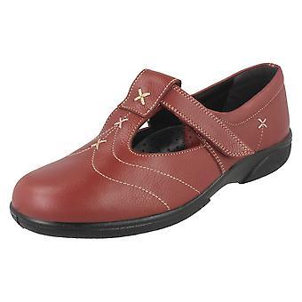 Ladies Easy B Casual T Bar Shoes Avignon