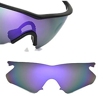 M Frame Heater Asian Fit Replacement Lenses Polarized Purple by SEEK fits OAKLEY