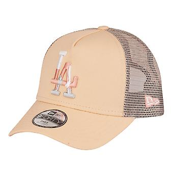 New Era Kinder Trucker Cap - CAMO Los Angeles Dodgers peach