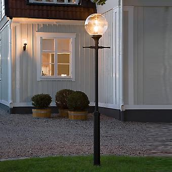 Konstsmide Orion Drive Entrance Post Light With Clear Globe Shade