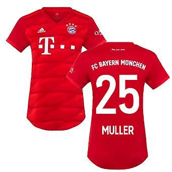 2019-2020 Bayern München Adidas Home Womens Shirt (MULLER 25)