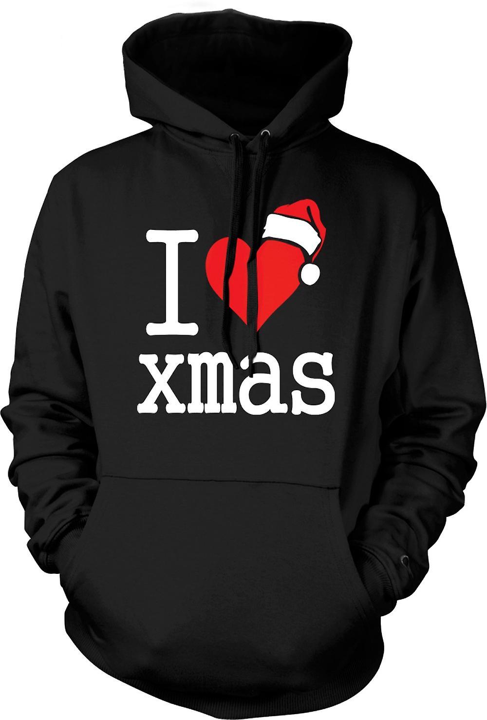 Para hombre con capucha - me encanta Navidad - la Navidad divertida