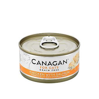 Canagan 75g Pollo con Salmón Gato Lata de Alimentos Húmedos - 1 x 75g Lata