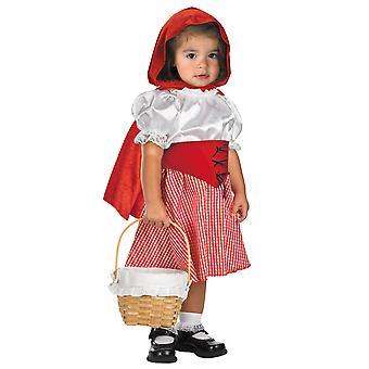 Little Red Riding Hood Costume di lupo cattivo delle fiabe bimbe M 12-18M
