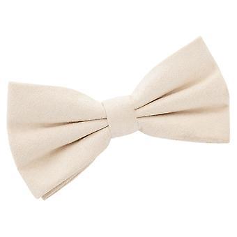 Beige Suede pre-bundet bow tie