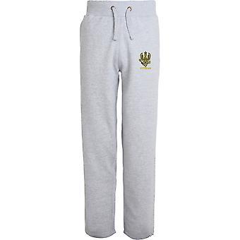 14ème 20ème Kings Hussars Veteran - Licensed British Army Embroidered Open Hem Sweatpants / Jogging Bottoms