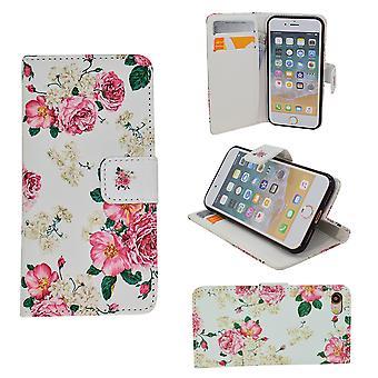Iphone 5/5s/se - Fodral / Plånbok I Läder - Blommor