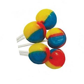 4 zakje van 5 Tutti Frutti gearomatiseerde lichte Mega lollies