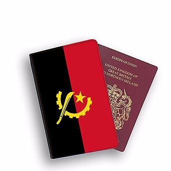 ANGOLA Flag Passport Holder Style Case Cover Protective Wallet Flags design