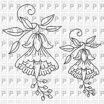 Paper Parachute Cling Rubber Stamps 9.5