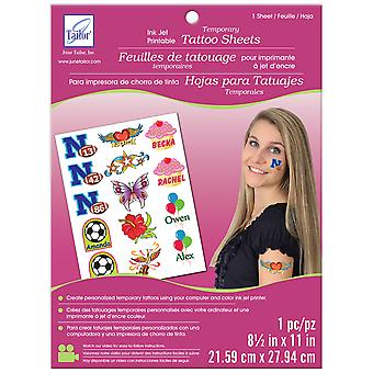 Temporary Tattoo Inkjet Printable Sheet White 8.5