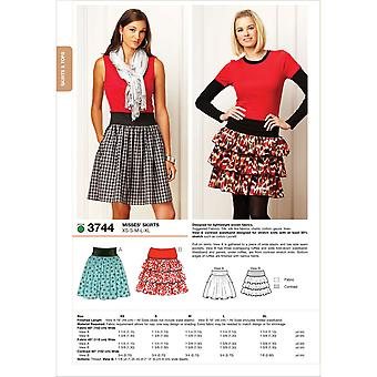 Skirts  Xs  S  M  L  Xl Pattern K3744