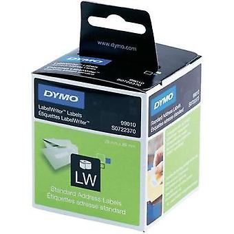 DYMO Labels (roll) 89 x 28 mm Paper White 520 pc(s) Permanent 1982991 Address labels
